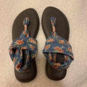 Floral Sanuk Sandals